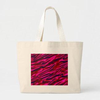 赤く膚触りがよい波はデジタル明るいピンクの錆ついたAを照らします ラージトートバッグ
