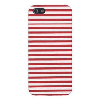 赤く航海のでストライプのなiphoneの箱 iPhone 5 cover