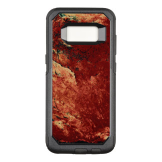 赤く色彩の鮮やかな石 オッターボックスコミューターSamsung GALAXY S8 ケース