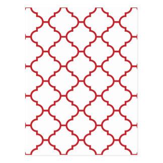 赤く華美なデザイン ポストカード