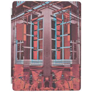 赤く青いコペンハーゲンの窓の反射のデジタル芸術 iPadスマートカバー