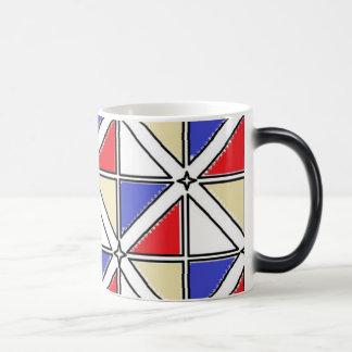 赤く青いタンジェニファーShao著11のozの変形させるマグ モーフィングマグカップ