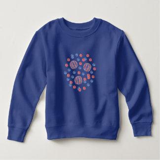 赤く青い球の幼児のスエットシャツ スウェットシャツ