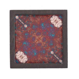 赤く青い白の抽象芸術 ギフトボックス