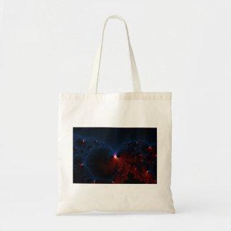 赤く青い細胞のフラクタルの芸術 トートバッグ