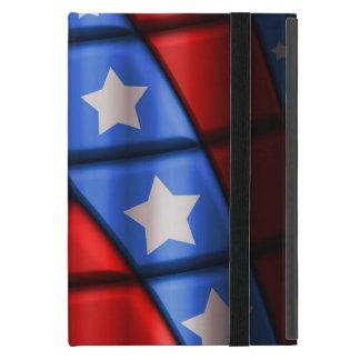 、赤く青い、スーパーヒーロー-白い星 iPad MINI ケース