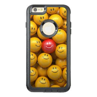 赤く黄色いスマイリーフェイスパターンデザイン オッターボックスiPhone 6/6S PLUSケース