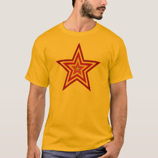 赤く黄色い星 Tシャツ