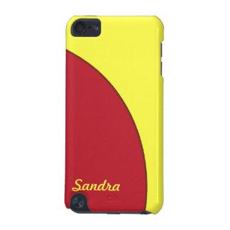 赤く黄色くモダンな円 iPod TOUCH 5G ケース