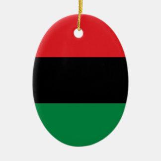 赤く黒いおよび緑の鍋アフリカUNIAの旗 セラミックオーナメント