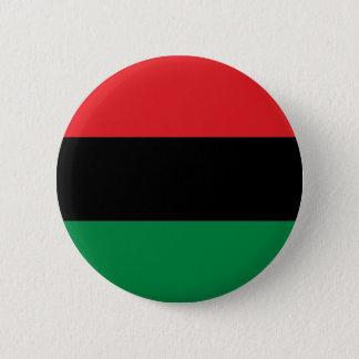赤く黒いおよび緑の鍋アフリカUNIAの旗 5.7CM 丸型バッジ