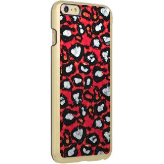 赤く黒いチータの抽象芸術 INCIPIO FEATHER SHINE iPhone 6 PLUSケース