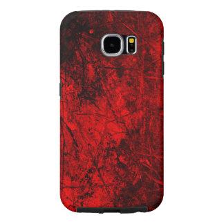 赤く黒いベクトル質感 SAMSUNG GALAXY S6 ケース
