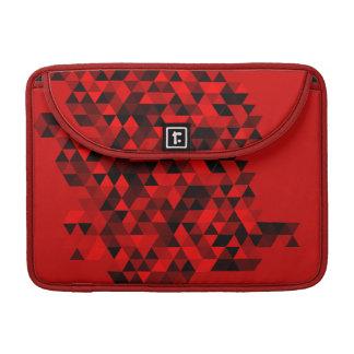 赤く黒い三角形パターン MacBook PROスリーブ