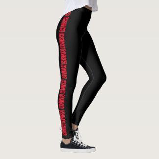 赤く黒い側面は4Taliaを縞で飾ります レギンス