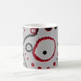 赤く黒い小型泡 コーヒーマグカップ