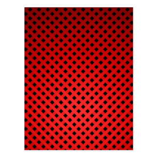 赤く黒い構造のFash ポストカード