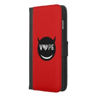赤く黒いVapeのハートの反逆者 iPhone 6/6s Plus ウォレットケース