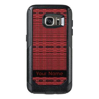 赤く黒くモダンなパターン オッターボックスSamsung GALAXY S7ケース
