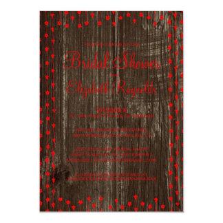 赤く黒く素朴な国のブライダルシャワー招待状 カード