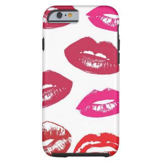 赤く、ピンクの唇パターン ケース