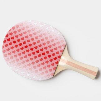 赤く、ピンクシナモンキャンデーのハート 卓球ラケット
