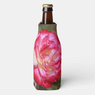 赤く、ピンク白いバラの飲み物のクーラー ボトルクーラー