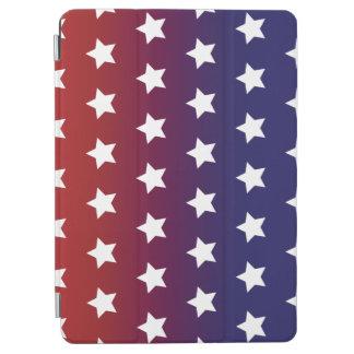 赤く、白いおよびブルースターパターン iPad AIR カバー