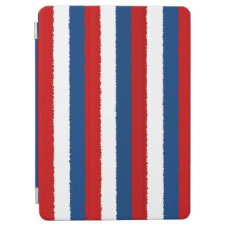 赤く、白いおよび青い縞 iPad AIR カバー