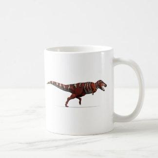 赤く、白および黒のティラノサウルス・レックスのレックス コーヒーマグカップ