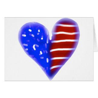 赤く、白くおよび青のハート記念日カード カード