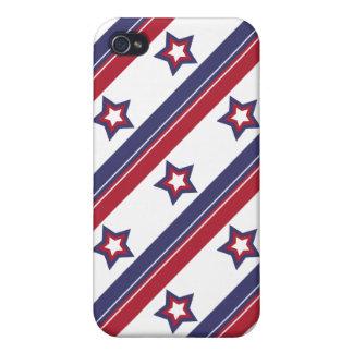 赤く、白くおよび青の星条旗 iPhone 4/4Sケース
