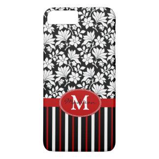 赤く、白く及び黒い名前/イニシャル iPhone 8 PLUS/7 PLUSケース
