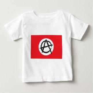 赤く、白く及び黒い無秩序の旗の印の記号 ベビーTシャツ