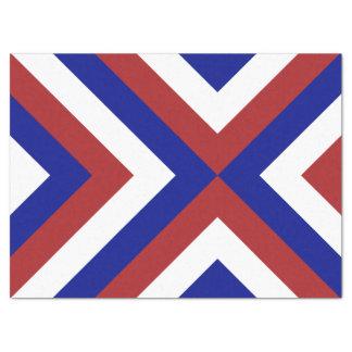 赤く、白く、および青のシェブロンのティッシュペーパー 薄葉紙