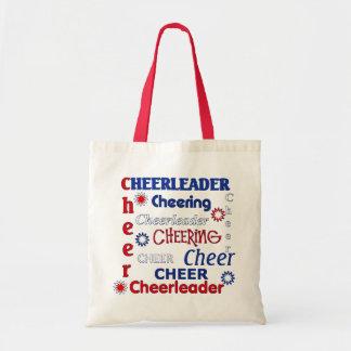 赤く、白く、および青のチアリーダーのバッグ トートバッグ