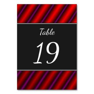 赤く、紫色および黒いレーザーそっくりのラインパターン カード