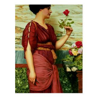 赤く、赤いバラ ポストカード