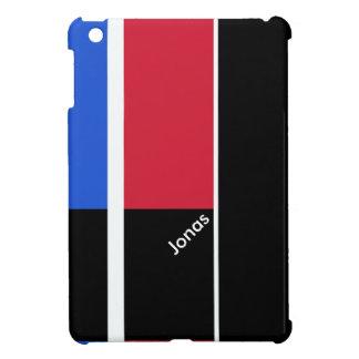 赤く、青および黒い色のブロック iPad MINI CASE