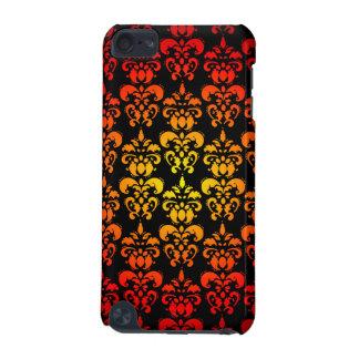 赤く、黄色および黒いダマスク織 iPod TOUCH 5G ケース