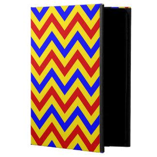 赤く、黄色、青LGシェブロンのジグザグパターン POWIS iPad AIR 2 ケース