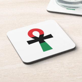 赤く、黒い及び緑のAnkh コースター