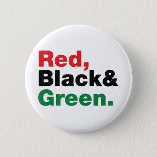 赤く、黒い及び緑 缶バッジ