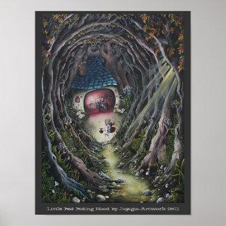 赤ずきんの絵画 ポスター