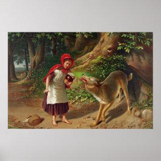 赤ずきん及び大きく悪いオオカミ ポスター