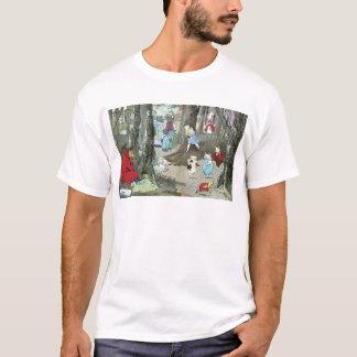 赤ずきん: 端ページ Tシャツ