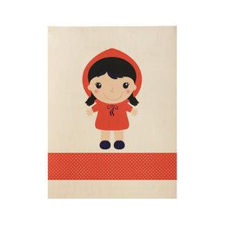 赤ずきん/赤 ウッドポスター