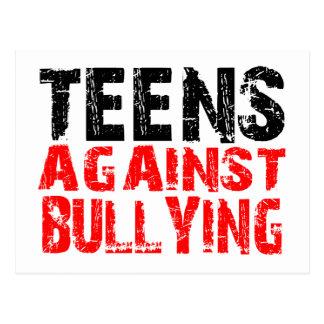 赤でいじめることに対する十代の若者たち ポストカード