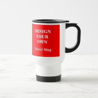 赤と白あなた自身のタンブラーを-設計して下さい トラベルマグ