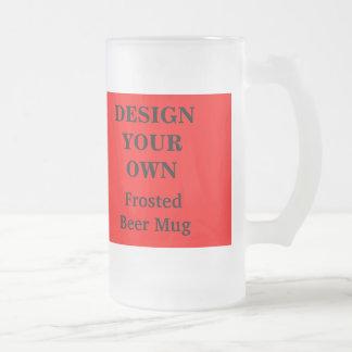 赤と白あなた自身のビールのジョッキを-設計して下さい フロストグラスビールジョッキ